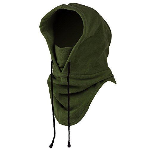 iMixCity 6 in 1 Winddichte Vollgesichtsmaske Unisex Tactical Heavyweight Sturmhaube Gesichtsmaske/Skimaske/Hooded Kopfhaube für Sport und Outdoor