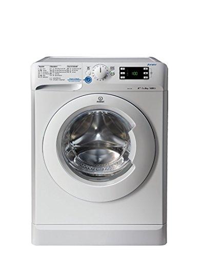 Indesit XWE 81484X W DE Waschmaschine FL / 177 kWh / 1400 UpM / 8 kg / 11594 Liter / Push und Wash / Inverter-Motor / leise nur 52 db / Schnellprogramm 9-30-60 Minuten