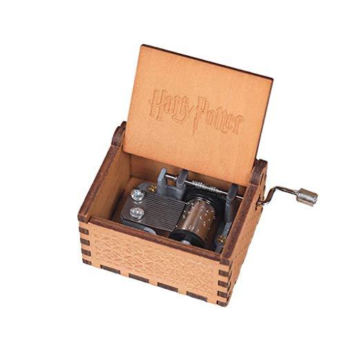 Caja de música de Madera Maciza con manivela Caja de música mecánic
