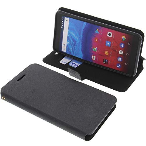 foto-kontor Tasche für Archos Core 55s Book Style schwarz Schutz Hülle Buch