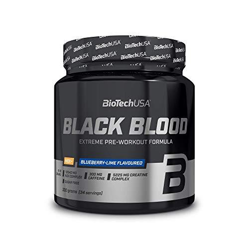 BioTech USA IAF00093059 Black Blood CAF+, 300 g, Mirtillo
