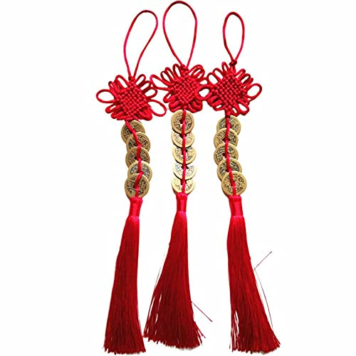 fafafa Cuerda de nudo chino con borla de la ópera de Pekín, kit de cuerda de nudo de la suerte, llavero Feng Shui regalo rojo herramienta de nudos chinos (color: rojo)