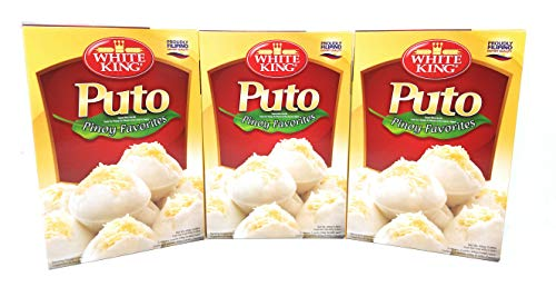 White King Puto Pinoy Favorites Cake Mix, Net Wt 400g (0.88lb)per Box, 3 Pack