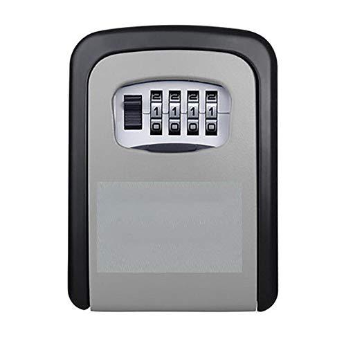 Alarmclocker8B Caja Fuerte para Llaves,montada en la Pared,Cerradura con código Digital,Caja de Almacenamiento de Llaves de Aluminio,Caja Fuerte de Seguridad-Gris