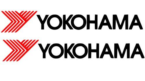2 x Yokohama Aufkleber – Performance Reifen-Aufkleber Vinyl Advan 150 mm