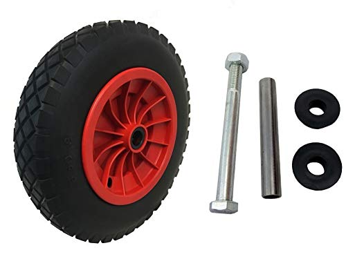 KetoPlastics 14' Red PU Puncture Proof Wheelbarrow Wheel Tyre Solid...