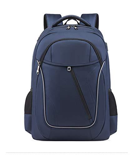 LC-SHBAGS Sac à Dos pour Ordinateur Portable pour Sac à Dos de Grande capacité léger de 17 Pouces, étanche et résistant à l'usure, Business/Travel/School Blue