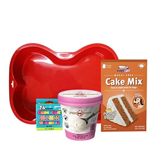 Puppy Cake Cake and Ice Cream Dog Birthday Cake...