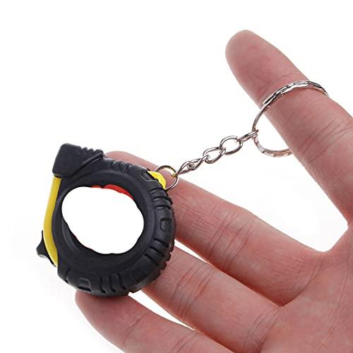 1M/T22 Cinta métrica llavero RouRetractable herramienta de medición de construcción Instument bolsillo centímetro regla de carpintería predeterminada