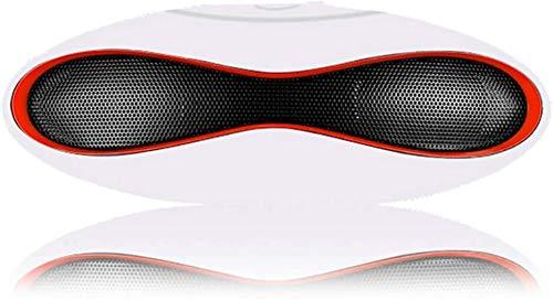 Mopoq Bluetooth Lautsprecher - drahtlose beweglichen Minilautsprecher-Computer-Subwoofer (Color : Weiß)