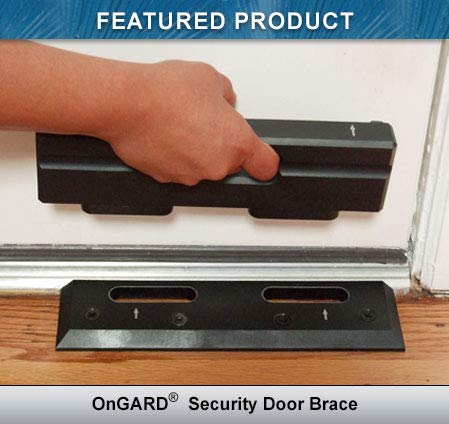 OnGUARD Security Door Brace | Door Barricade | Prevents Home Invasions, Burglaries & looters |...