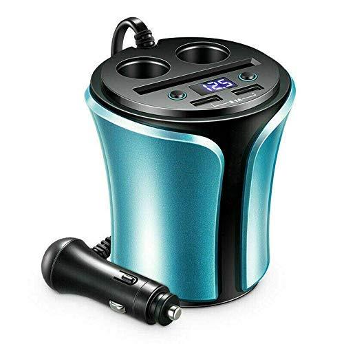 Encendedor del cigarrillo del coche, Riloer Dual Port DEB 5V cargador del coche para la tableta del teléfono móvil