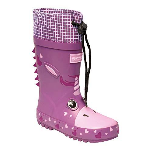 Regatta Unisex Kinder Mudplay Gummistiefel, wasserdicht, Pink - Einhorn-Rorc - Größe: 32 EU