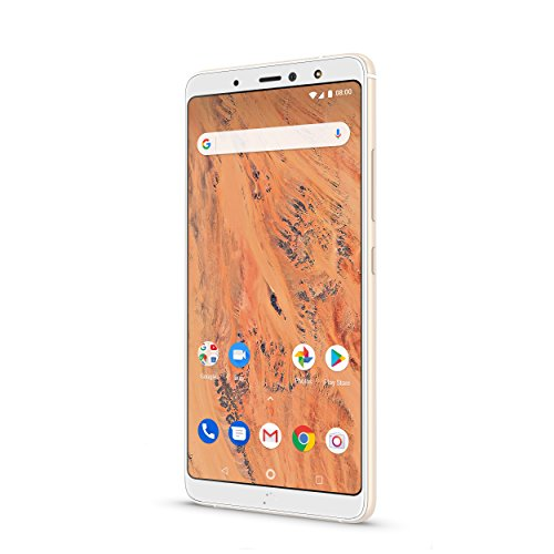BQ Aquaris X2 Smartphone white/sand gold (5,65 Zoll FHD+, Qualcomm Snapdragon 636 Octa Core, 32 GB + 3 GB RAM, 12 MP und 5 MP Dual-Kamera, NFC, USB-C, Quick Charge 4+, Android 8.1.0 Oreo)