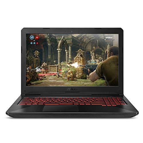 """ASUS FX504GE-ES72 Thin & Light TUF Gaming Laptop (FX504) Full HD, 8th-Gen Intel Core i7-8750H, GTX 1050 Ti, 8GB DDR4, 256GB M.2 SSD, Gigabit WiFi, 15.6"""" (Renewed)"""