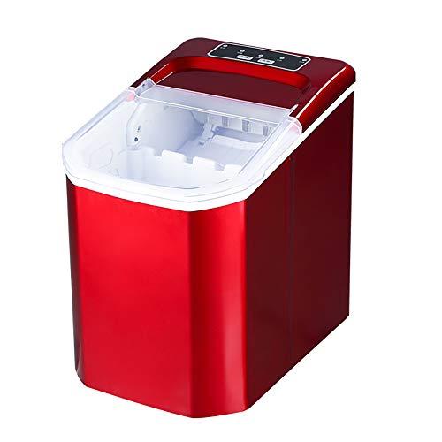 NIAS Eismaschinenproduktion von reinem EIS, Produktionskapazität: 15 kg / 24 h, Bedienfeld mit Touchscreen, korrosionsbeständiges Edelstahlgehäuse-red