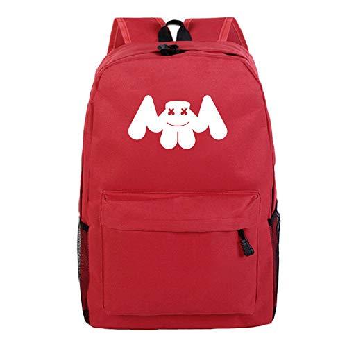 American DJ M-ars-hm-ello borsa da scuola modello zaino personalizzato zaino da studente campus giovanile 3-Motivo rosso 5_Taglia unica