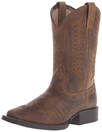 ARIAT unisex child Honor Western Boot, Distressed Brown, 12 Little Kid US
