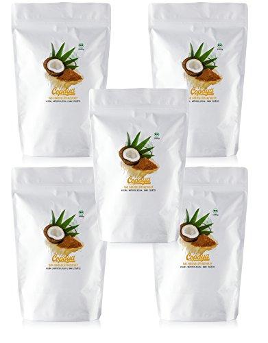 Copaya Bio Kokosblütenzucker, Kokoszucker ohne Zusätze, hervorragende Zuckeralternative und Süßungsmittel 5000g (5kg)
