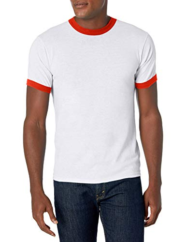 Augusta Sportswear Small Ringer Tee Shirt, White/Red