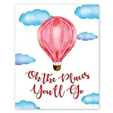 Oh the places you'll go Wall Art Prints - Unframed 8x10 in - Posters with Quotes from the book - Positive Decorations for Home, Bedroom - Cute Pictures Decor from Kids room