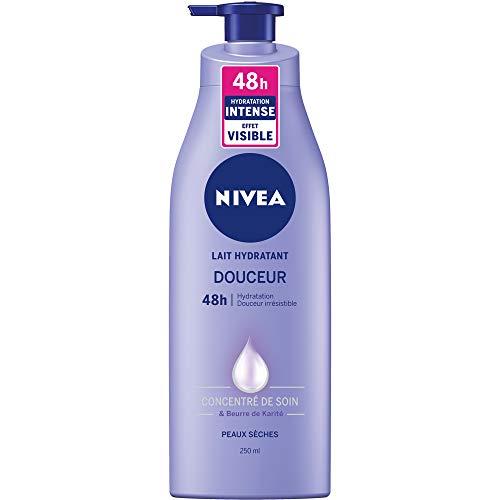 Nivea Lait douceur Smooth sensation, hydratant 24h, beurre de karité, peaux sèches - Le flacon de 250ml