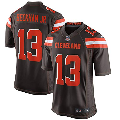 Nike NFL Cleveland Browns (Odell Beckham Jr.) Men's Game Football Jersey Size L (Seal Brown)