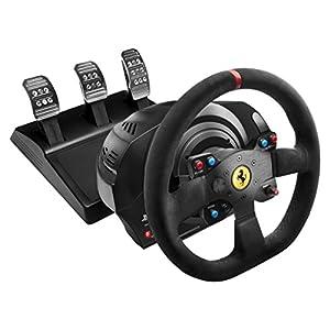 Thrustmaster T300 Ferrari Integral Alcantara Edition – Volante para PS4/PS3/PC – Force Feedback, 3 pedales – Funciona…