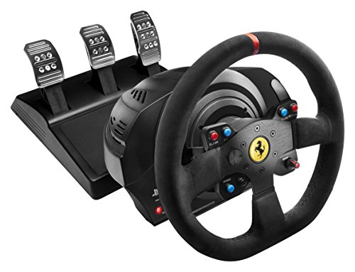 Thrustmaster T300 Ferrari Integral Alcantara Edition (Lenkrad inkl. 3-Pedalset, Force Feedback, 270° - 1080°, Eco-System, PS4 / PS3 / PC)