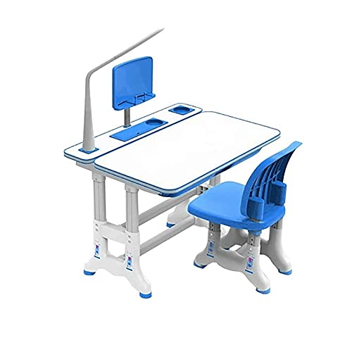 Sdesign Conjunto de escritorios y sillas, mesa de estudios y silla de estudio ajustables de altura infantil con el escritorio de inclinación, estaciones de trabajo de estudiantes de escuela pa