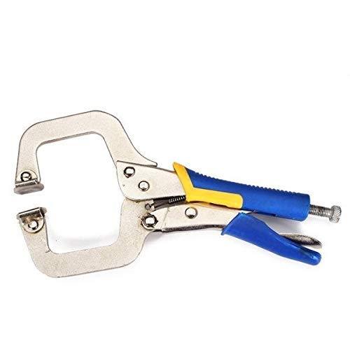 WY-YAN Cortadora de alambre de 9 pulgadas Tipo C alicates carpintería clip kit de herramienta que prensa de la abrazadera de soldadura