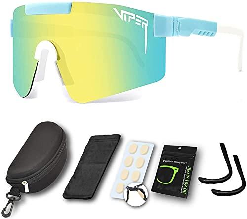 Gafas de sol polarizadas deportivas de Pit-Viper UV400 Gafas de ciclismo Gafas de sol Gafas de sol a prueba de viento Gafas Gafas para conducir Pesca Pesca Senderismo Golf Gafas al aire libre para hom