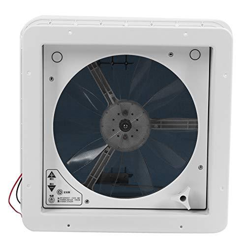 Ventilador de ventilación de techo para RV, ventiladores de control manual, ventilador de ventilación de techo, bajo ruido, 10 aspas para RV, caravana, autobús, 13,4 x 13,4 pulgadas(12V)