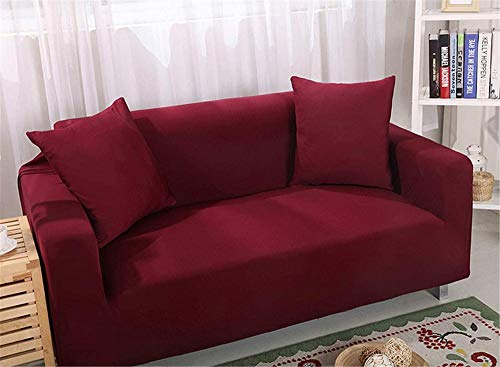 HFTYCC Funda de sofá Gruesa, Elegante Jacquard para Funda de sofá para Banco, Tela elástica extraíble y Lavable Antideslizante, Funda Protectora para Mascotas, 1 Plaza, Color Azul bebé