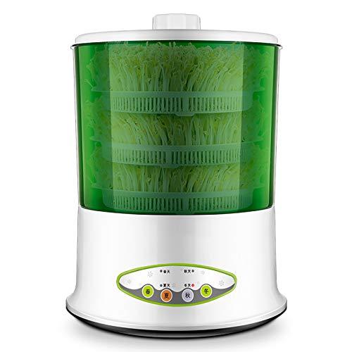 QQSS Automatisch Keimgerät, Samen Wachsen Müslisprossenhersteller Thermostat Elektrischer Keimapparat Automatische Bewässerung, Geeignet für Vier Jahreszeiten