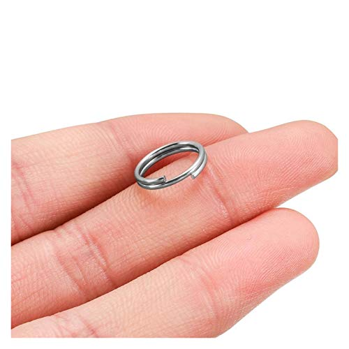 De múltiples fines 100pcs / lote 5-15mm de acero inoxidable abierto anillos de salto de doble salto para llaves de bricolaje con conectores de anillos de doble división para la fabricación de joyas pa