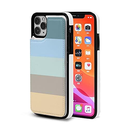 Compatibile con iPhone 11 da 6,1 pollici, custodia protettiva in poliuretano termoplastico+PU Cover protettiva per telefono nero a cinque colori combinati blu, marrone, sabbia, beige, turchese