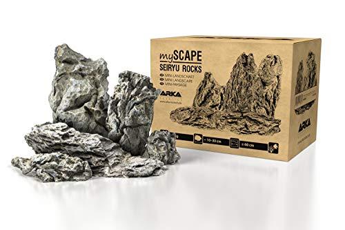 ARKA Aquatics myScape-Rocks Seiryu - Mini-Landschaft - natürliches Gestein für einzigartige Aquascapes in jedem Süßwasseraquarium & Terrarium ideal für Aquarienbreiten bis ca. 60 cm 5 kg Grau M