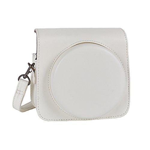 Phetium Schutztasche Kompatibel mit Instax SQ 6 Ex D Sofortbildkamera, Kameratasche mit Weichem PU Leder Material und Schulterriemen (Pearl Weiß)