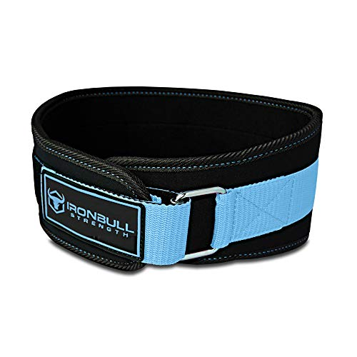 Women Weight Lifting Belt - High Performance Neoprene Back Support - Light Weight & Heavy Duty Core Support for Weightlifting, Crossfit and Fitness (Small, Black/Blue)