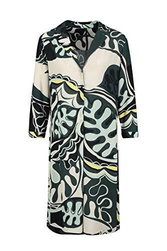 Expresso Carly Damen dunkelgrünes tailliertes Tunika-Kle-40-Dunkelgrün