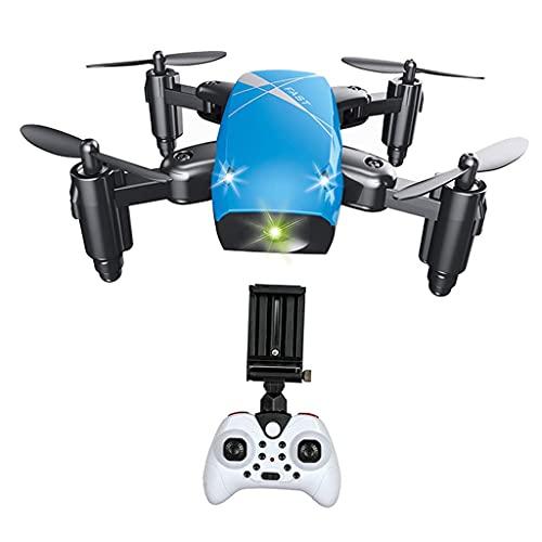 zmigrapddn Drone S9 con cámara 2.4G Quadcopter Plegable Mini RC Drone, Accesorios de Repuesto RC ( Color : Blue with Camera )