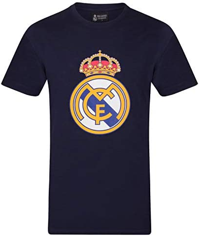 Real Madrid Official Football Gift Mens Crest T Shirt Navy Medium product image