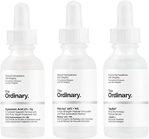 The Ordinary - Juego de 3 frascos antienvejecimiento, tu arma secreta para el cuidado de la piel