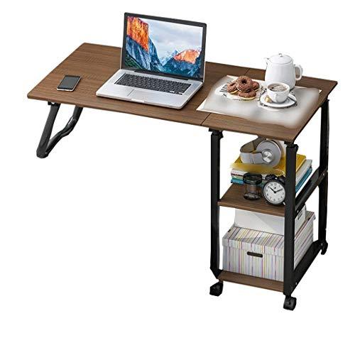 Overbed Table Hospital Bed Swivel Wheel Rolling Tray Adjustable Over Bedside Home Desk Reading Eating Breakfast Cart Stand Bedridden Elderly Senior Patient Aid (Color : A)