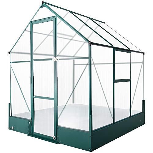 Outsunny Gewächshaus für den Garten, vielseitig nutzbar als Treibhaus, Tomatenhaus, Frühbeet und Pflanzenhaus, 4 mm PC Sonnenschutzplatte,...