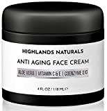 Anti Aging Face Cream for Men - Anti Wrinkle Face Moisturizer and Facial Lotion - Advanced Skin Care for Younger Looking Skin - Hydrates, Firms and Revitalizes - Natural & Organic, 4 oz, Unscented