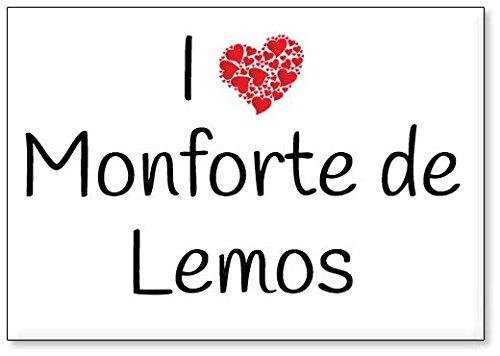 Mundus Souvenirs - Amo Monforte de Lemos, Imán para Nevera (diseño 2)