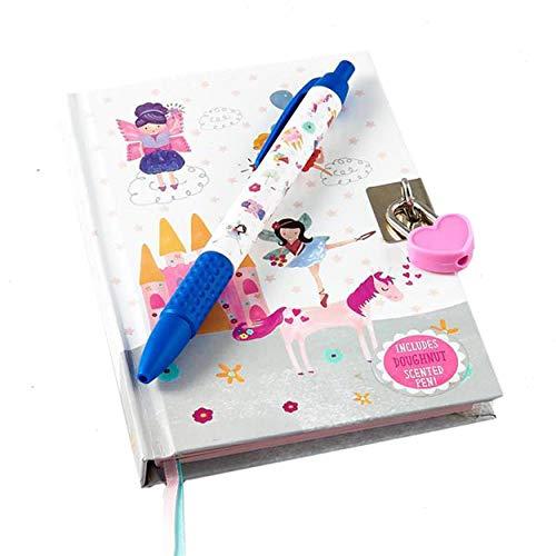 Floss & Rock Diario de unicornio con cerradura y pluma perfumada de donuts