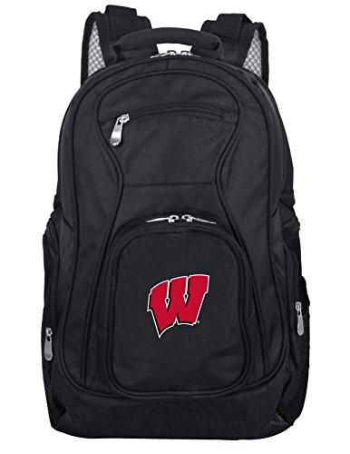 Denco NCAA Wisconsin Badgers - Mochila para ordenador portátil, 19', color negro